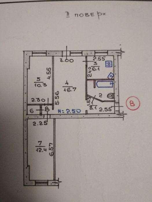Продам 3х комнатную квартиру ЦГР