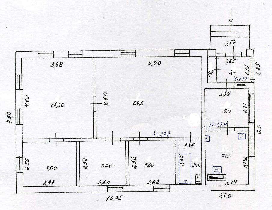 Дом 84м² на участке 84 сот